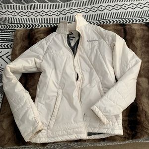 Columbia Omniheat Coat Jacket Down White Ivory S